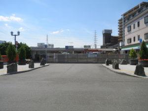 野崎駅工事フェンス
