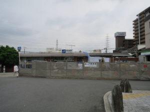 野崎駅工事重機