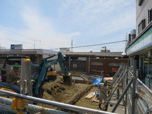 野崎駅仮駅舎予定地