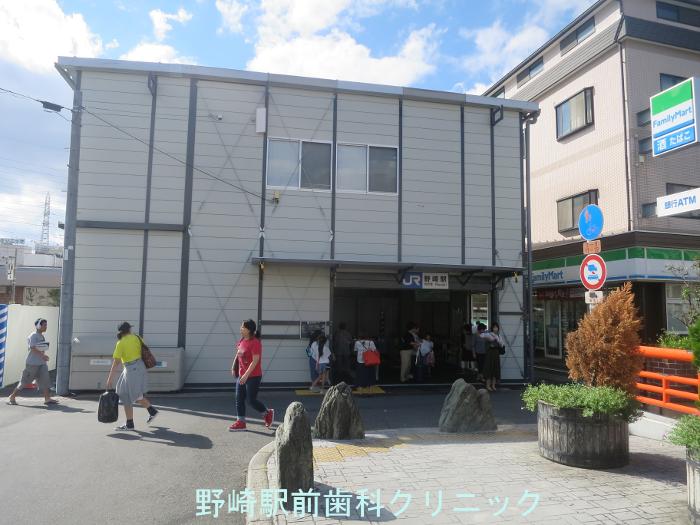 仮駅舎外観