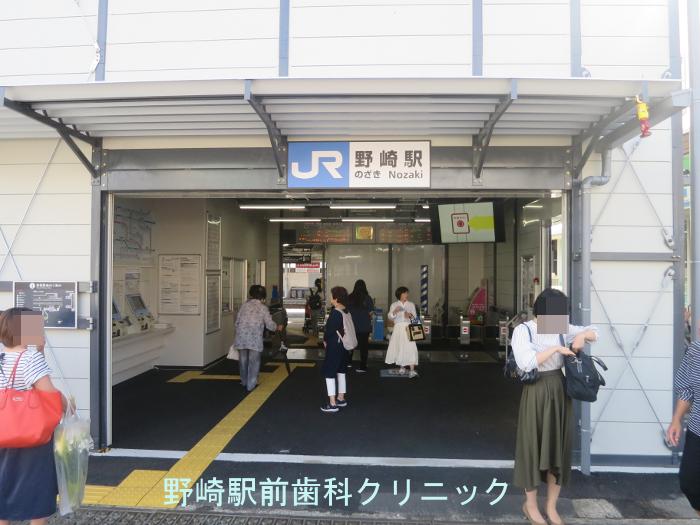 仮駅舎改札