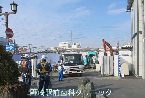 野崎駅工事
