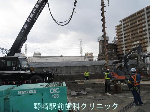野崎駅基礎工事